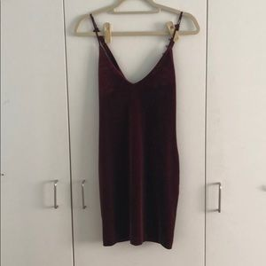 Velvet body con Urban Outfitters dress